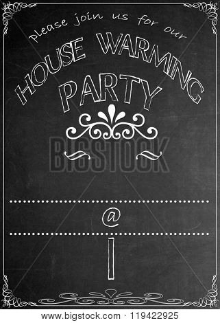Chalkboard Housewarming Party Invitation