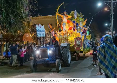 New Orleans, La/usa - Circa February 2016: Krewe Of Comus In Parade During Mardi Gras In New Orleans