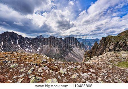 Mountain Pass And Tragic Sky