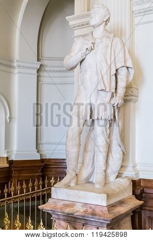 Austin, Tx/usa - Circa February 2016: Sam Houston Statue Monument Inside Texas State Capitol In Aust