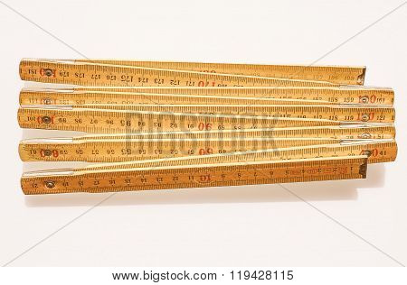 Imperial And Metric Ruler Vintage