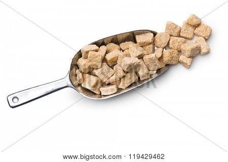 unrefined cane sugar in scoop