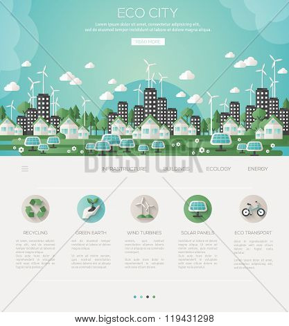 Green eco city and sustainable architecture