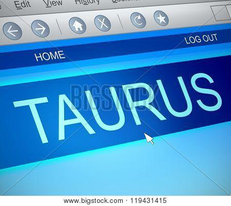 Taurus Horoscope Concept.