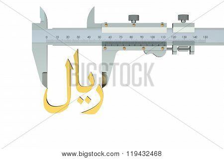 Riyal Symbol With Vernier Caliper