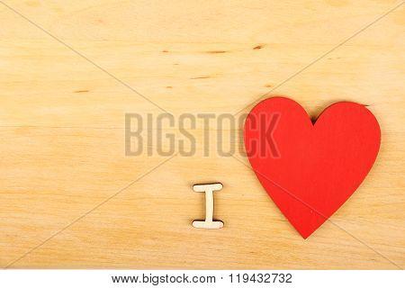 I love -text