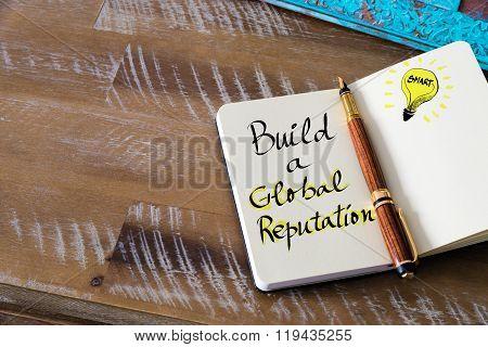 Written Text Build A Global Reputation