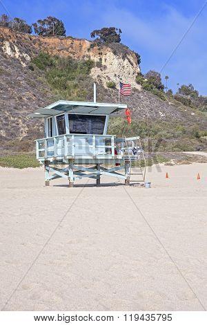 Lifeguard Tower On A Beach, California, Usa