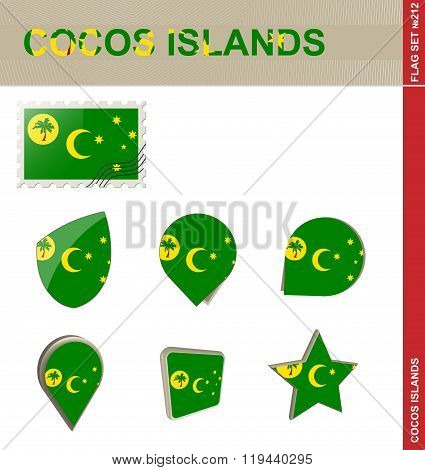 Cocos Islands Flag Set, Flag Set #212