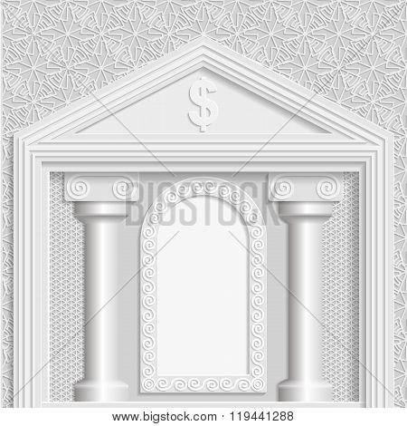 Business vector background business greetings background building stock exchange template 3D