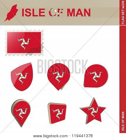 Isle Of Man Flag Set, Flag Set #220