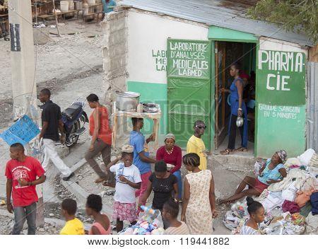 Street corner in Port au Prince, Haiti