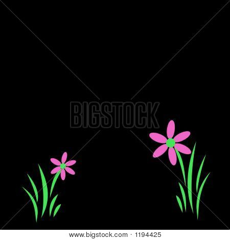 Digital Pink Flowers