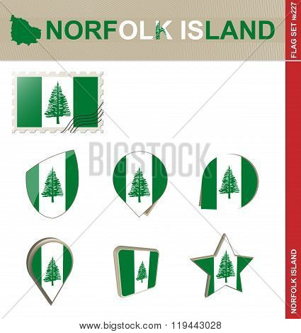 Norfolk Island Flag Set, Flag Set #227