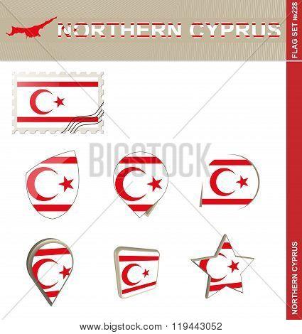 Northern Cyprus Flag Set, Flag Set #228