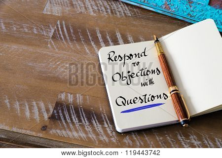 Written Text Respond To Objections With Questions
