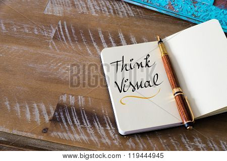 Handwritten Text Think Visual