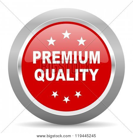 premium quality red chrome web circle glossy icon
