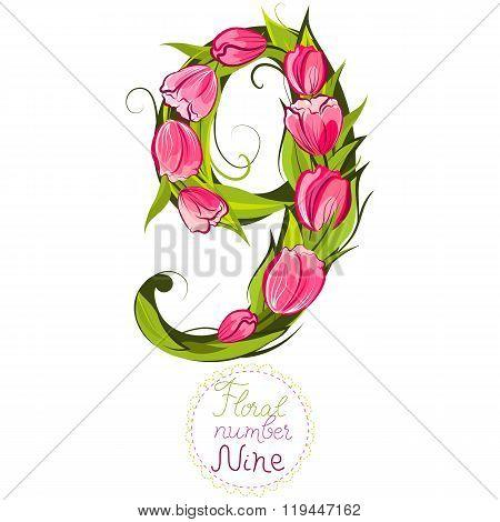 Floral Number Nine