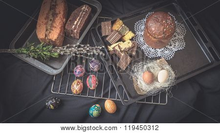 Easter Still Life With Traditional Holiday Elements