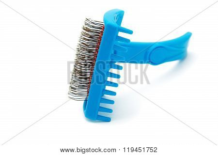 Brush The Hair Of Animals On A White Background