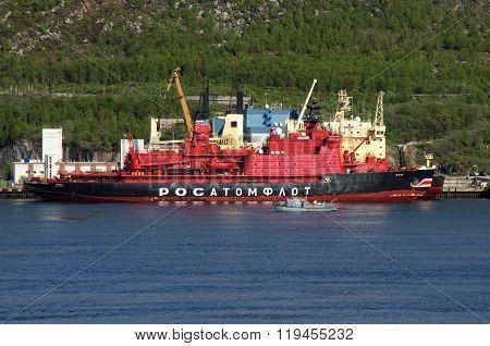 MURMANSK, Russia - June 11, 2012, The atomic icebreaker