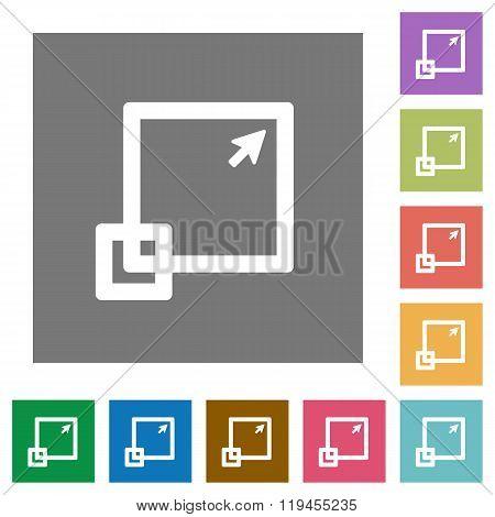 Maximize Square Flat Icons