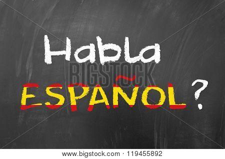 Habla Espanol question for learning spanish