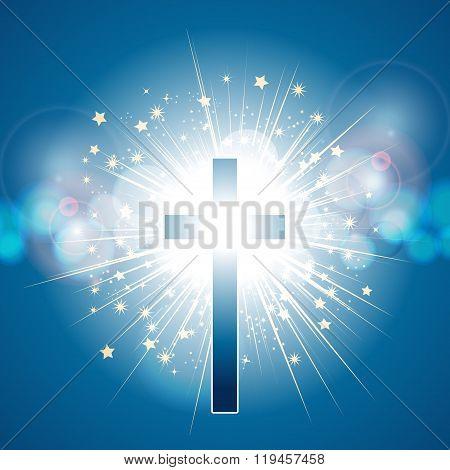 Cross Over Blue Light Explosion