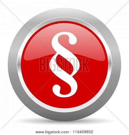 paragraph red chrome web circle glossy icon