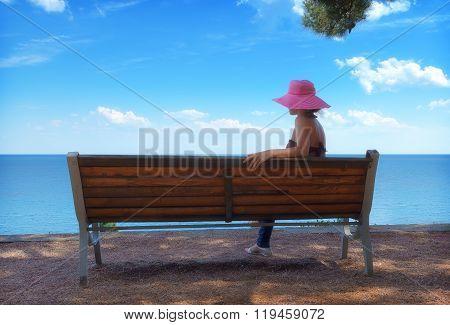 Bench At Water