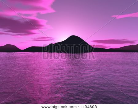 Purple Tropical Sunset