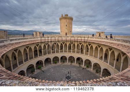 On top of Bellver Castle, Mallorca