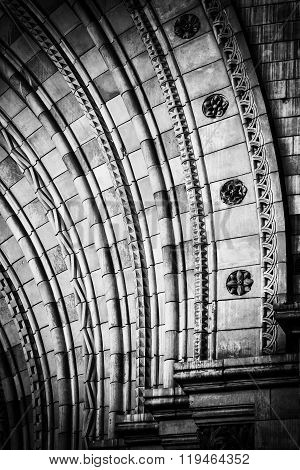 Architecture detail in black and white