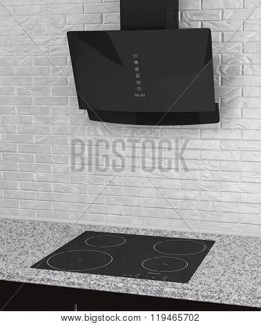 Induction Cooker With Aspirator