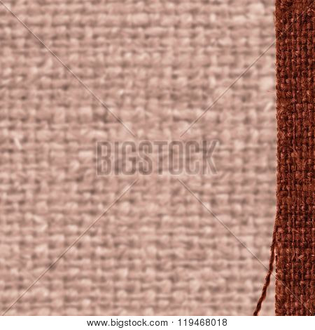Textile Structure, Fabric Exterior, Fawn Canvas, Tan Material, Close-up Background