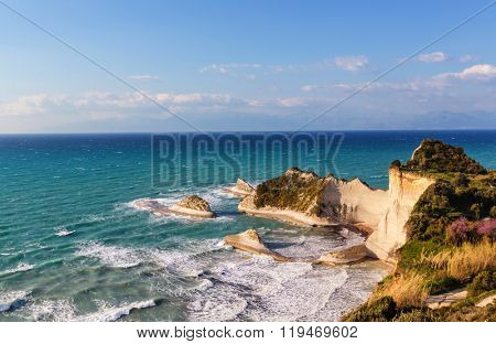 Corfu island landscapes in Greece.