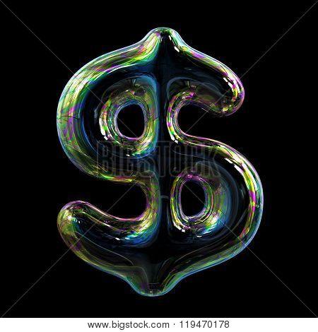 Soap Bubble Dollar Sign. Concept.