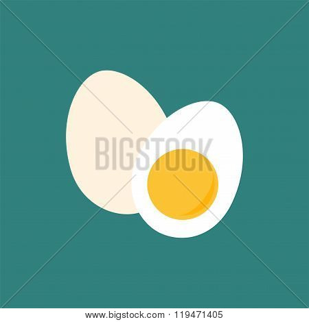 Egg And Half Of Egg