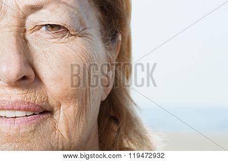 Senior woman's face