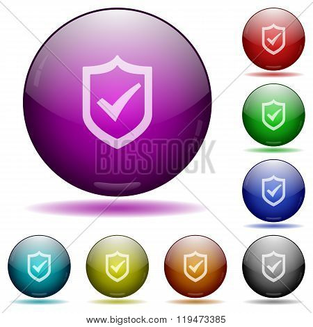 Active Shield Glass Sphere Buttons