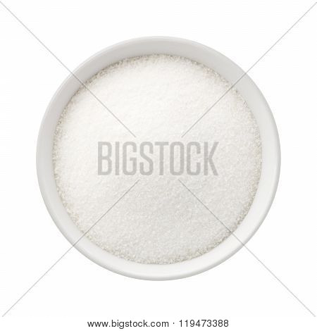 Refined Sugar In A Ceramic Bowl