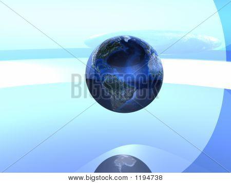 Globe in blau