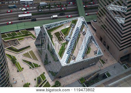 Hong Kong, Sar China - Circa July 2015: The Forum At Exchange  Square