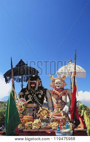 Barong Landung - Traditional Balinese Protective Spirits.