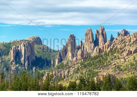 Cathedral Spires In South Dakota