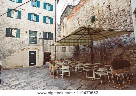 Split, Old Town Street Caffee, Croatia.