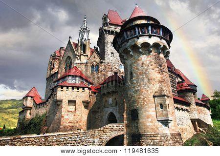 castles from fairy tales - impressive Kreuzenstein. Austria