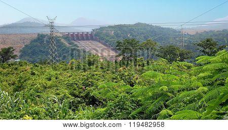 The dam in Africa.