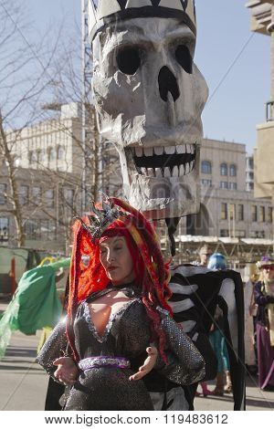 Mardi Gras Skull And Costumes